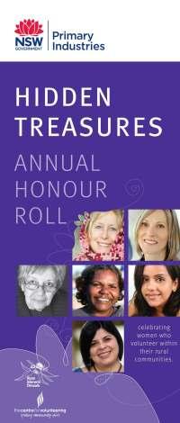 Hidden Treasures Honour Roll