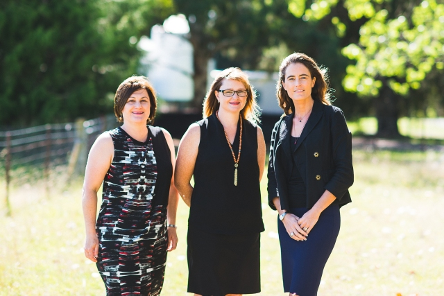 2015 NSW-ACT RIRDC Rural Women's Award finalists Cindy Cassidy, Trudy McElroy and Sophie Anderson.