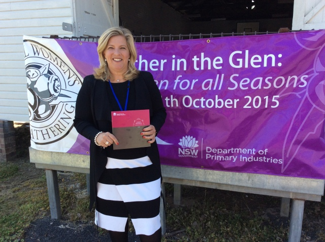 Bronnie Taylor MP launching the 2015 Hidden Treasures Honour Roll at the 2015 NSW Rural Women's Gathering held in Glen Innes.