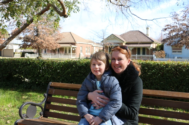 Beck Keysers with her son Kaiser