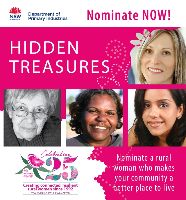 Image of four women from different backgrounds with tagline 'nominate now'.